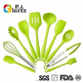 亚马逊热卖10件硅胶厨房用具/硅胶餐具