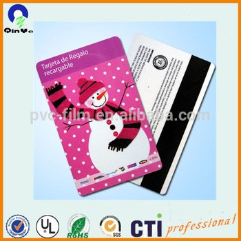 带磁条的pvc会员证设计