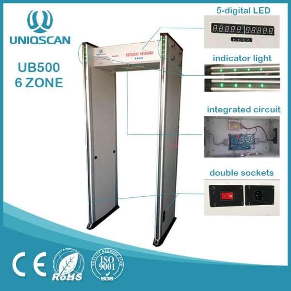 访问控制通过面部识别和栅门-金属探测器ub500
