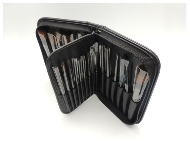 Stylish Brush Set with Storage PU Handbag