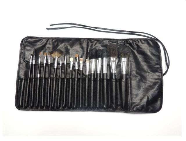 17个人化妆刷套装黑色携带袋