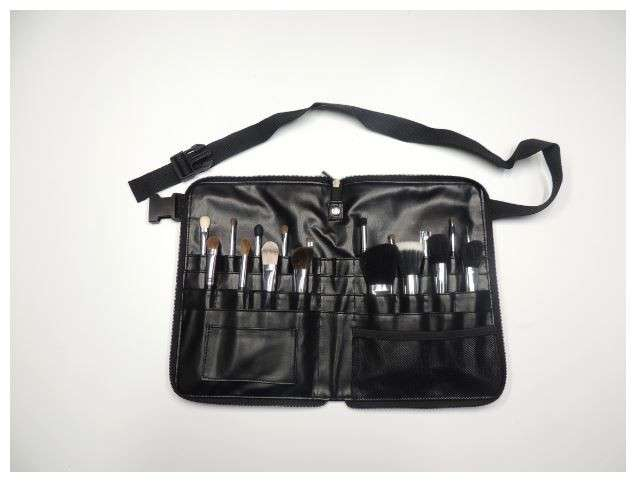 18 pcs on-the-go makeup brush set