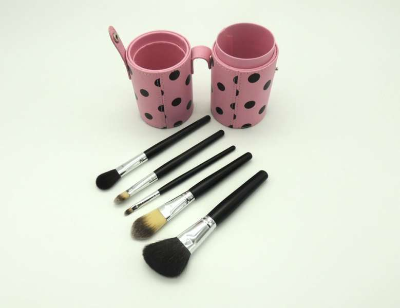 makeup brush set cosmetic brush with PU Brush Tube