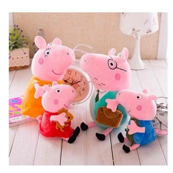 粉红猪家庭毛绒玩具娃娃