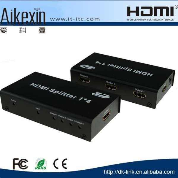Aikexin 1x2 HDMI Splitter 1 Input 2 Output Switcher Support