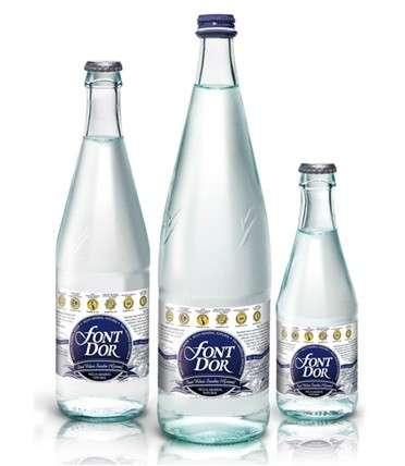 多尔纯矿泉水在玻璃瓶内的字体