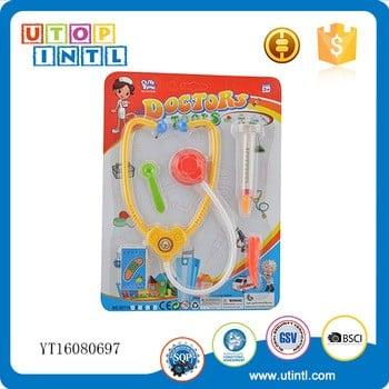 热销医生套装玩具塑料听诊器配件