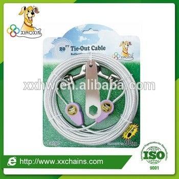 不锈钢狗绑了反射电缆20ft狗高达90lbs
