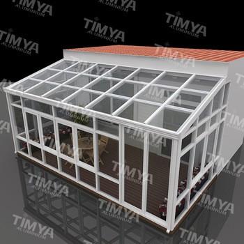 工厂定制铝洛斯太阳房和天井外壳设计的花园