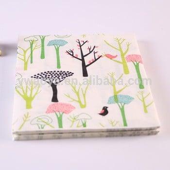 热销的树与定制设计印刷餐巾纸
