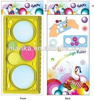 儿童促销或礼品代工绘制塑料直尺