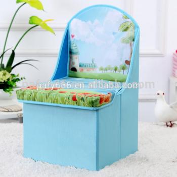Brilliant 2016 Fabric Folding Storage Cube Ottoman Kids Chair Storage Machost Co Dining Chair Design Ideas Machostcouk