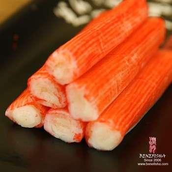 为模拟鱼糜蟹棒寿司