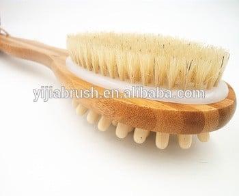 沐浴放松沐浴身体刷天然刷毛长柄淋浴回刷刷-去角质擦洗皮肤刷