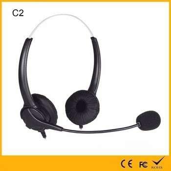 中国工厂代工的促销10mw最大输入功率可弯曲的麦克风双耳/单声道耳机呼叫中心话务员