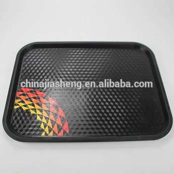 Customized food storage beverage holder plastic large serving tray