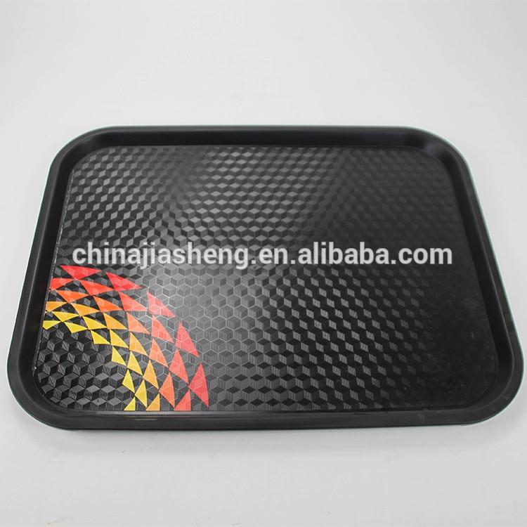 Customized food storage beverage holder plastic large serving tray