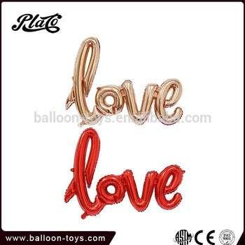 40inch LOVE letter mylar helium foil balloon