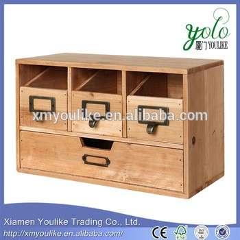 木制桌面办公室组织者抽屉/工艺用品储藏柜