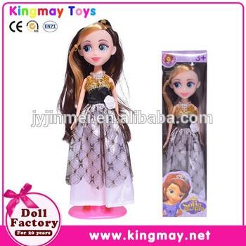 中国廉价玩具9寸塑料索菲亚第一打扮娃娃
