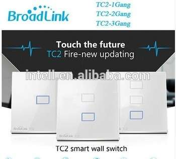 Broadlink TC2 EU Switch 1Gang 2Gang 3 Gang Touch Switch Smart Home Automation Wireless Wifi Control LED Lights Wall Switch