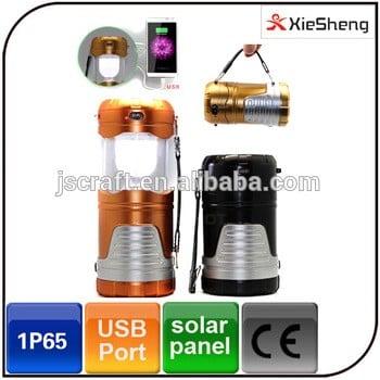 LED帐篷轻型USB充电器便携式灯笼充电直流供电LED太阳能野营灯
