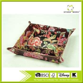 花卉印花皮革包罗万象的变化关键钱包硬币折叠存储盘