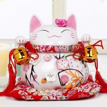 粉红幸运猫为家庭装饰和结婚礼物