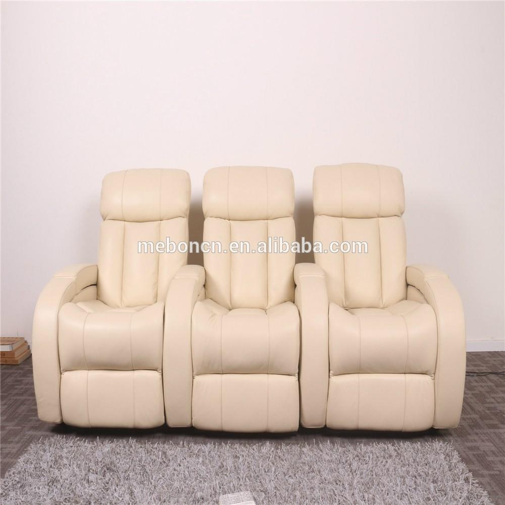 Beige Home Theatre Recliner Chair , Cinema Chair Cheap , Theatre Furniture