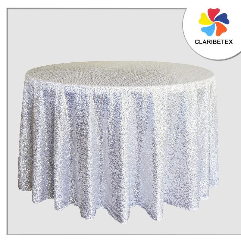 Elegant Luxury 108 Round Table Cloth, Round White Tablecloths For Wedding