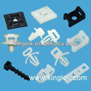 自粘性电缆夹尼龙电缆接头安装mft-25-4st塑料天然马鞍接头安装电缆领带夹,Saddle Type