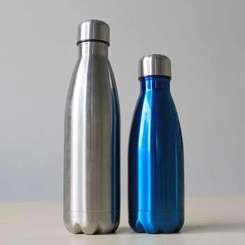 在美国定制的标志750ml双层不锈钢膨胀水壶和私人标签热销