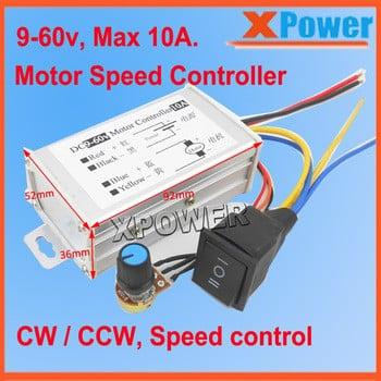 火爆的销售9v 24v 12V直流电机速度控制器的PWM可逆运行10A脉冲驱动板控制36V 48V 60v
