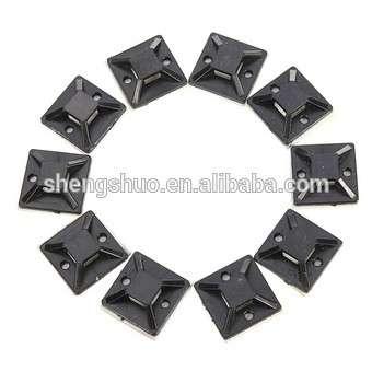 10pcs 20x20mm自粘线拉链支架安装底座夹夹