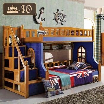 6221 #儿童家具实木双层床