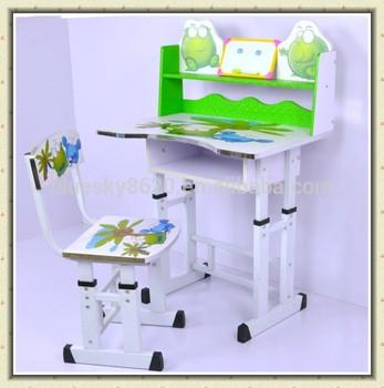 可调式纸盒折叠儿童学习桌椅