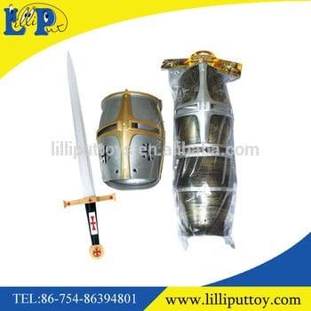 塑料角色扮演玩具经典骑士武器套装玩具头盔