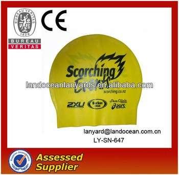 Latex swimming cap