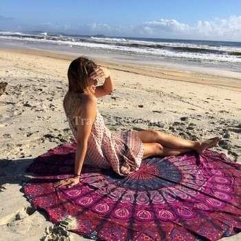 曼陀罗曼陀罗印度roundies蝠鲼批发织锦棉床单被褥扔沙滩毯曼荼罗挂毯的嬉皮士