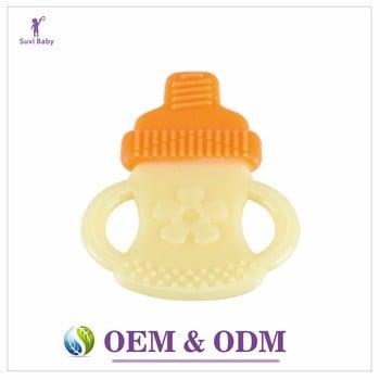 免费样品批发出牙婴儿牙胶软塑料硅咀嚼玩具的孩子