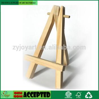 批发儿童迷你木制画架16×9cm的桌面显示和艺术的替代品