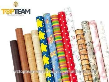 PVC自粘木纹家具用乙烯基装饰膜自粘纸卷