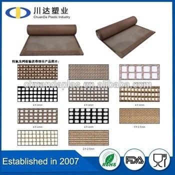 中国制造商PTFE涂层的玻璃纤维网密度高,聚四氟乙烯聚四氟乙烯涂层的玻璃纤维网格输送带,