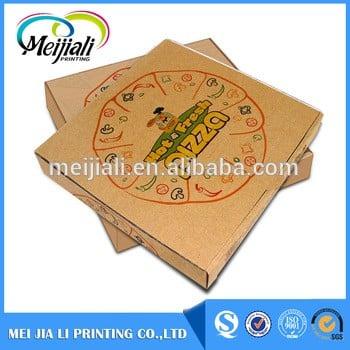 大工厂定做OEM多达6种颜色的比萨盒价格,比萨切片盒用于食品包装。