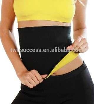 便宜的私人标签妇女安全运动瑜伽训练氯丁橡胶减肥腰部教练皮带