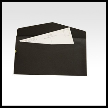 最受欢迎的铝箔印刷信封批发迷你礼品卡黑色礼品信封