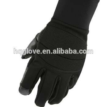 Police  Military Supplies Back- 100%polyester full finger tactical military gloves
