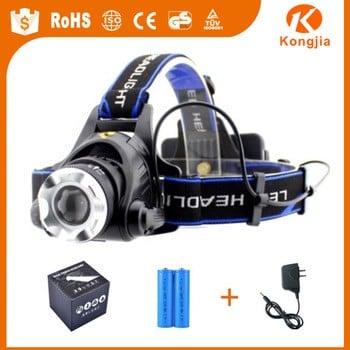 10W XML High Power Aluminum Manufacturer Outdoor LED Flashlight Fishing Headlamp