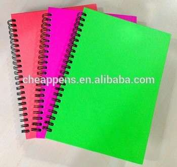 彩色定制办公用钢丝螺旋笔记本