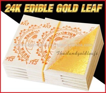 Gold Leaf Sheets Facial mask 24K 100% Pure Edible Decoration Frame Art DIY